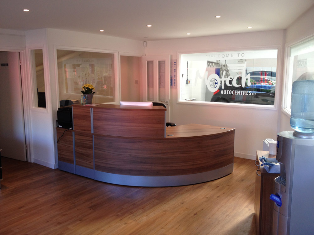 Reception Desk at Motech, newbury