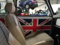 Interior of Rover Mini at our garage in newbury