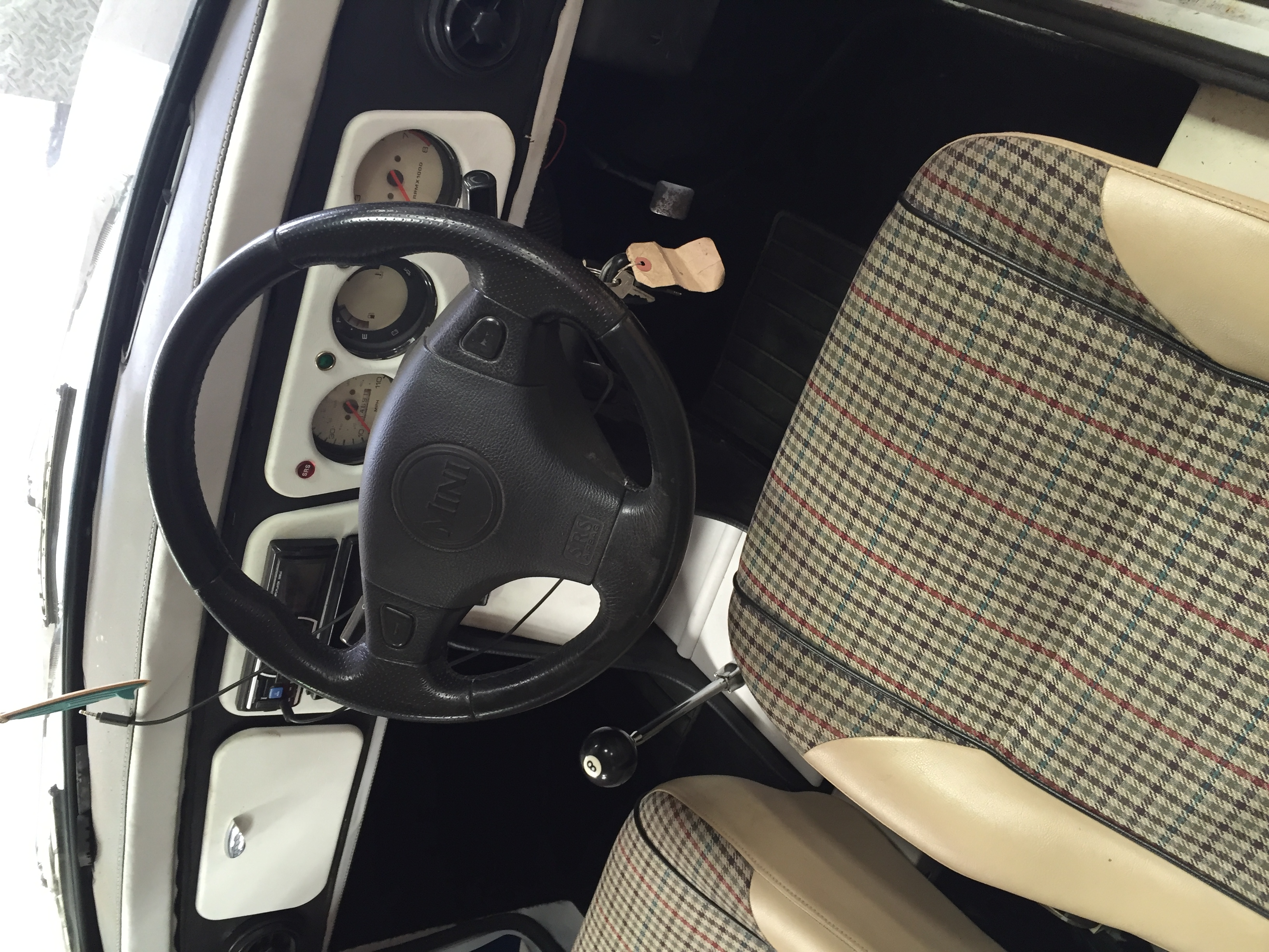 Drivers seat of Rover Mini