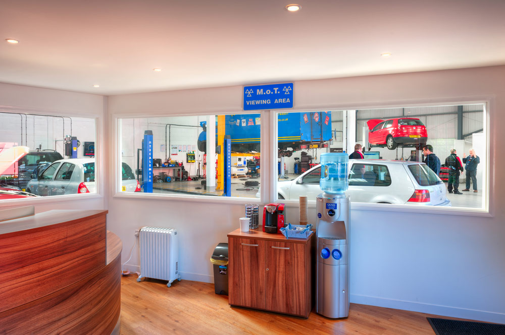 Reception with MOT Viewing area.