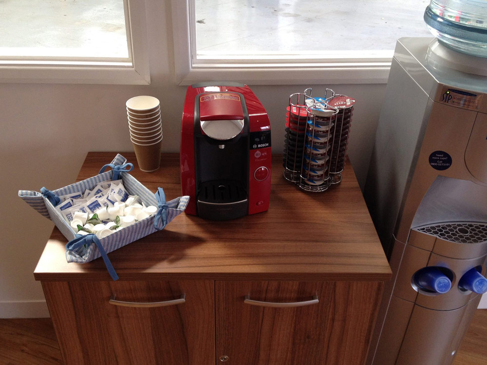 """Our """"Carbucks"""" complimentary drinks for all our customers at Motech, Newbury"""