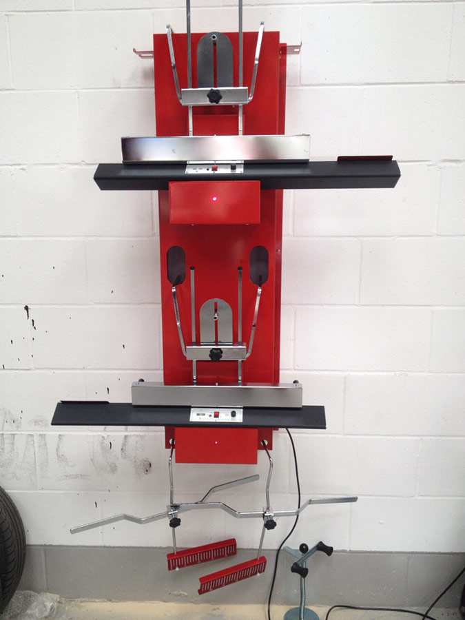 Motech also perform Wheel Alignment/Tracking for cars.